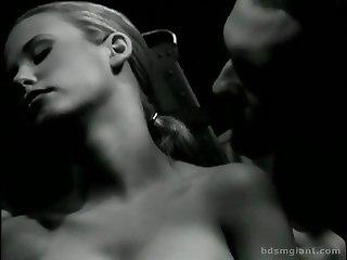 Sub In Corset Nipple Clamped