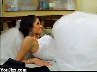 Titty Bride Pleased By Massive Dong