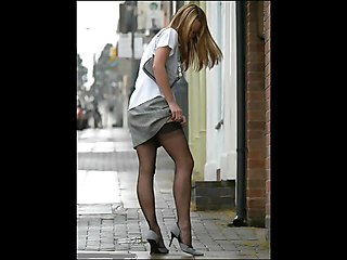 Real Girls   Real Life Stockings In The Street