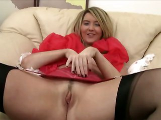 British Teen In Stockings